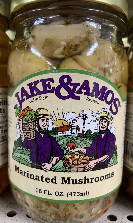 Jake & Amos Marinated Mushrooms 16 oz