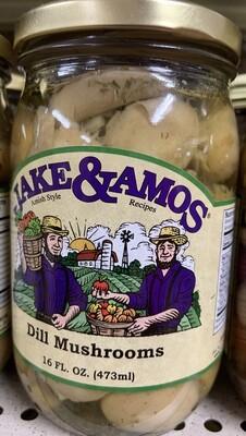 Jake & Amos Dill Mushrooms 16 oz