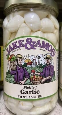 Jake and Amos Pickled Garlic 16 oz