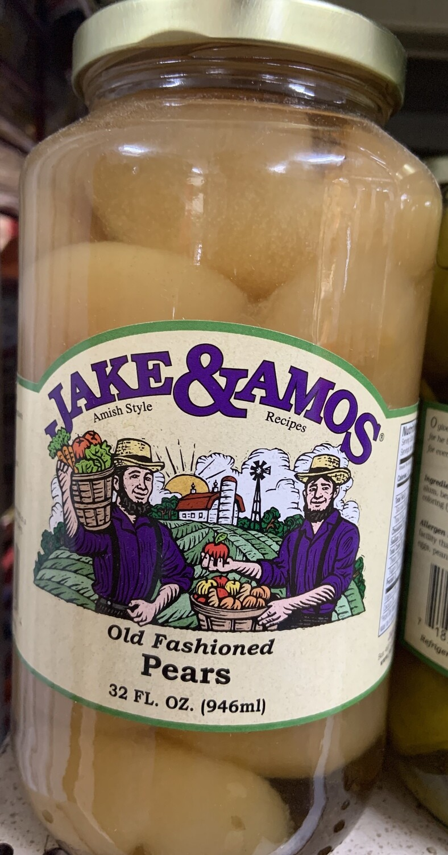 Jake & Amos Old Fashion Pears 32 oz