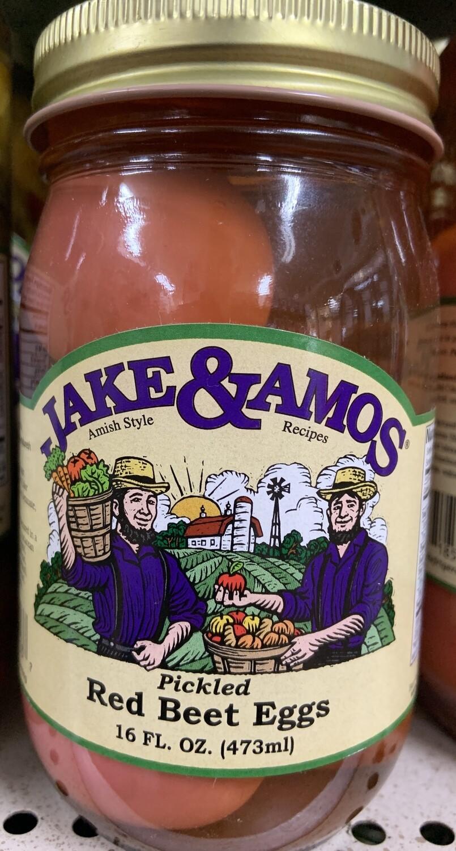 Jake & Amos Pickled Red Beet Eggs 16 oz