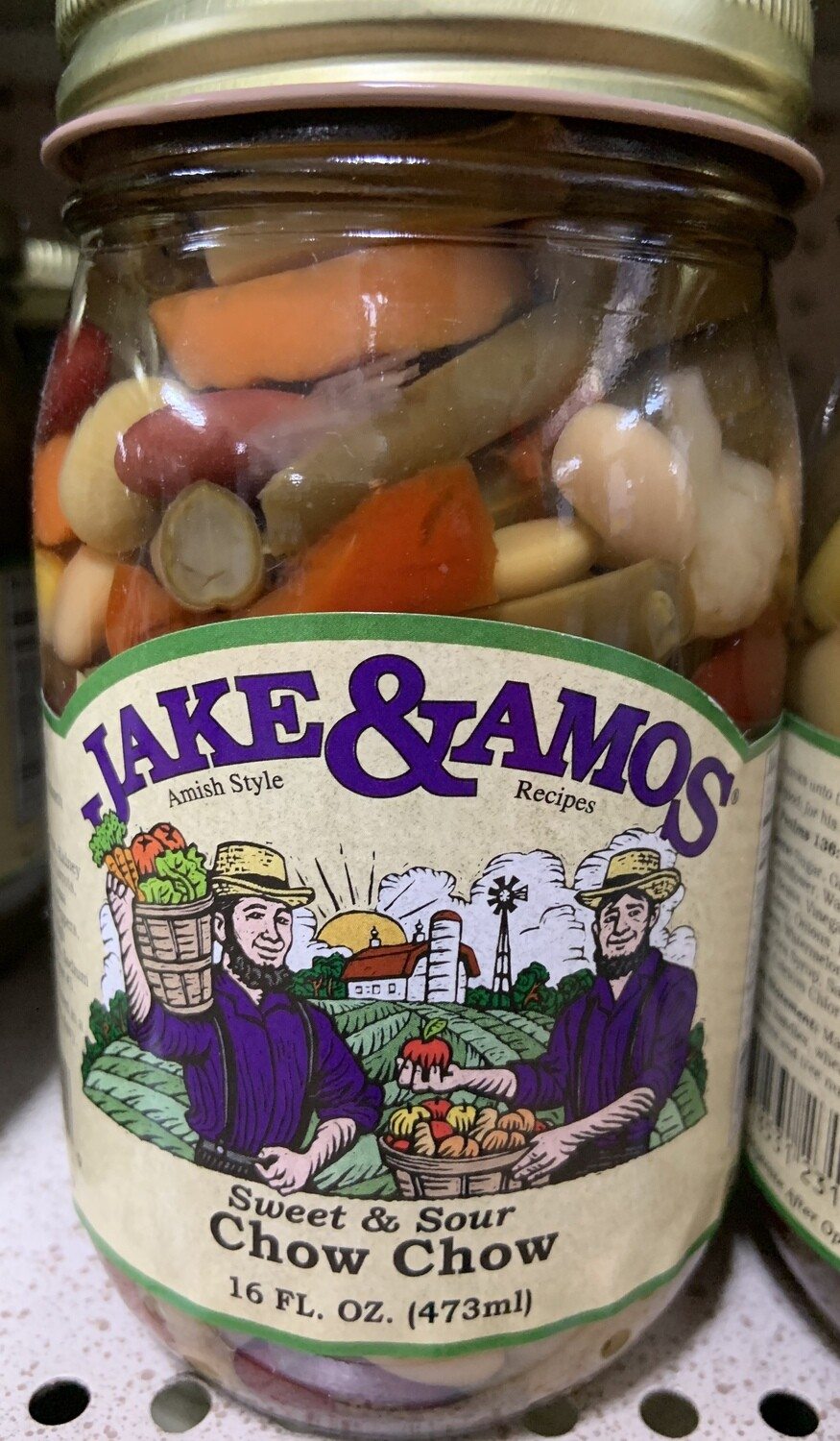 Jake & Amos Sweet and Sour Chow Chow 16 oz