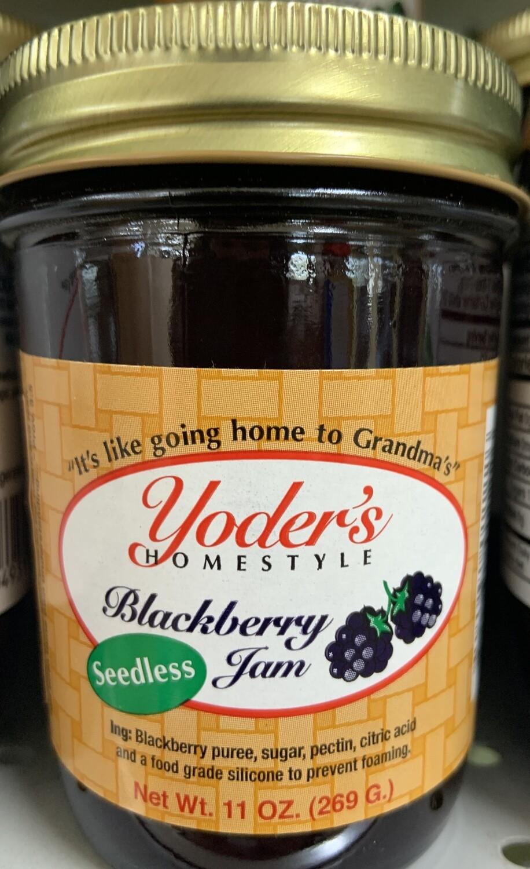 Yoder's Seedless Blackberry Jam 11 oz
