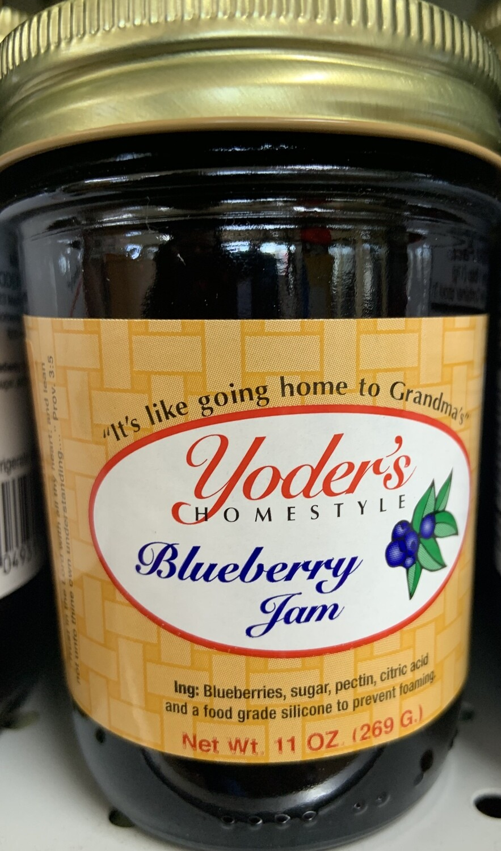 Yoder's Blueberry Jam 11 oz