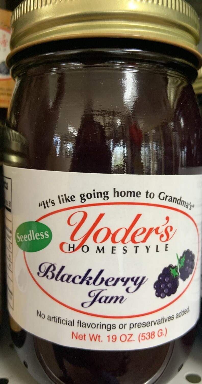 Yoder's Seedless Blackberry Jam 19 oz