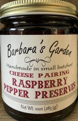 "Barbara's Garden ""Cheese Pairing"" Raspberry Pepper Preserves  10 oz"