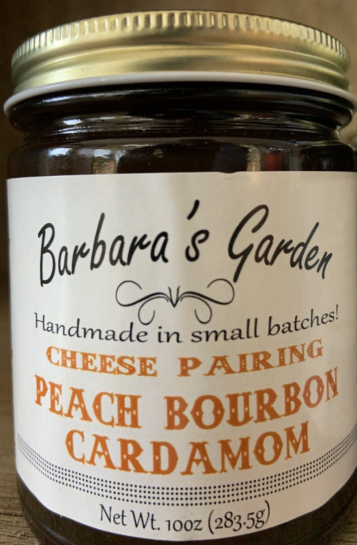 "Barbara's Garden ""Cheese Pairing"" Peach Bourbon Cardamom 10 oz"