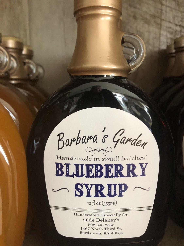 Barbara's Garden Blueberry Syrup 12 oz