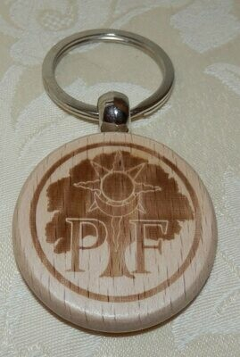 PF Wooden Key Ring
