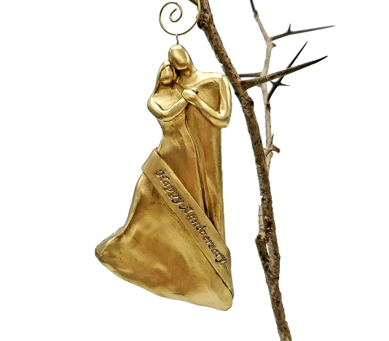 50th Wedding Anniversary Gold Christmas Ornament Gift for Parents, Couple, Friends, Husband or Wife