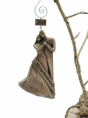 Bronze 8th Wedding Anniversary Gift Christmas Ornament 2020