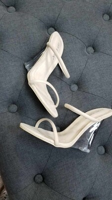Static Clear Wedge Heel