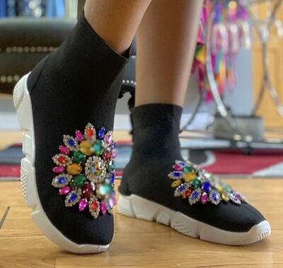 Bejeweled Sock Sneaker