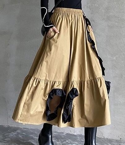 Peek-a-Boo Khaki Skirt