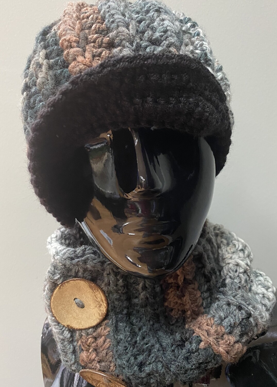 Newsboy Ash Variation Crochet Set