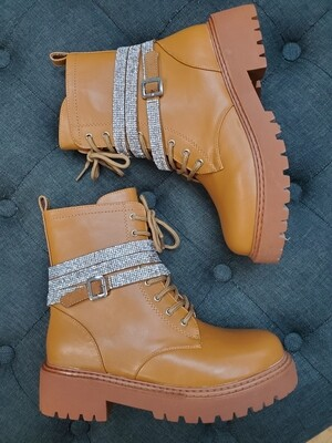 Wrapped Bling Combat Boot