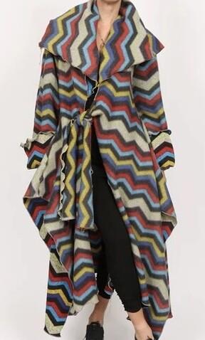 Zig Zag Oversize Coat