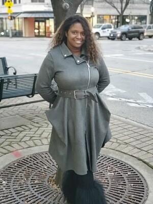 Struttin In Grey Coat