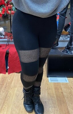 Mesh Bling Leggings