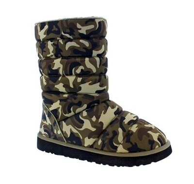 Quilted Camo Boot