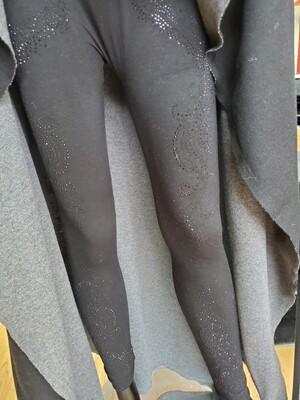 Black Bling Leggings