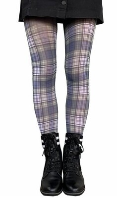 Cunningham Plaid Blue Tights