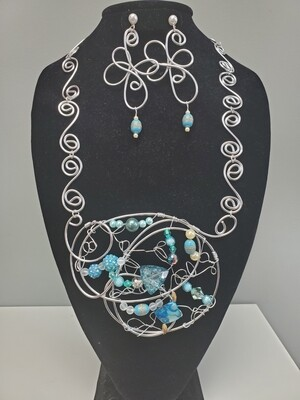 Wired Aqua Swirled Set