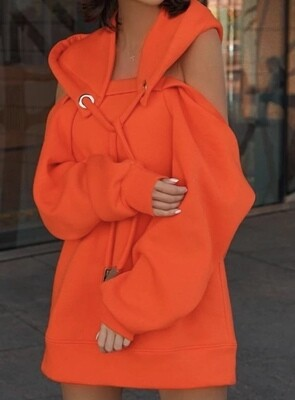 Off The Shoulder Hooded Top