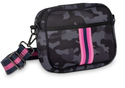 Camouflage Stripe Crossbody
