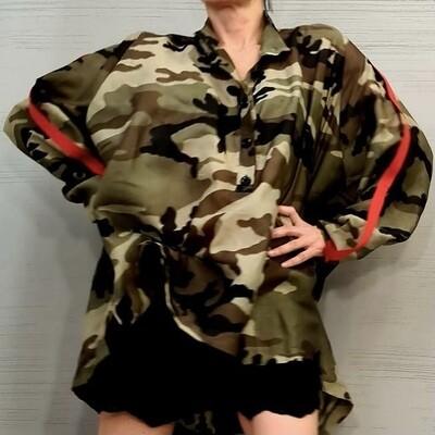 Camouflage Oversize Tunic