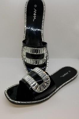 Black Stones Sandal