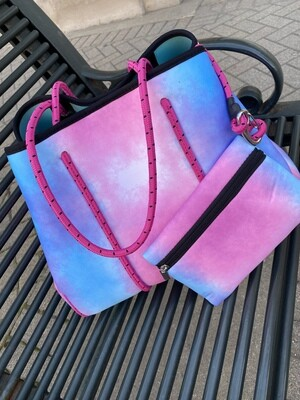Neoprene Tote w/Matching Wallet