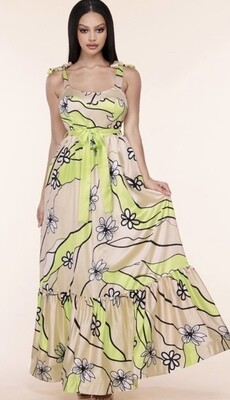 Champagne & Flowers Maxi Dress