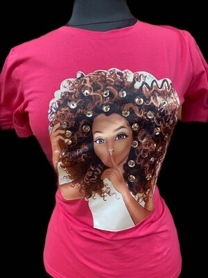 Curly Twist Pink Tee