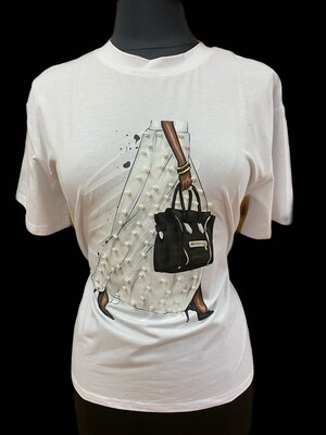 Sophisticated Pearls Fashion Tee