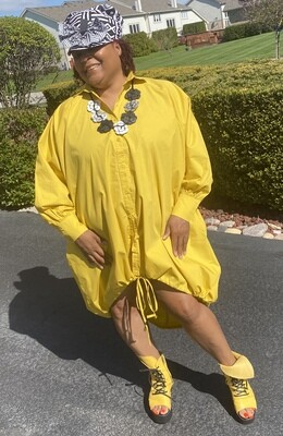 Hidden Figures Dress (yellow)