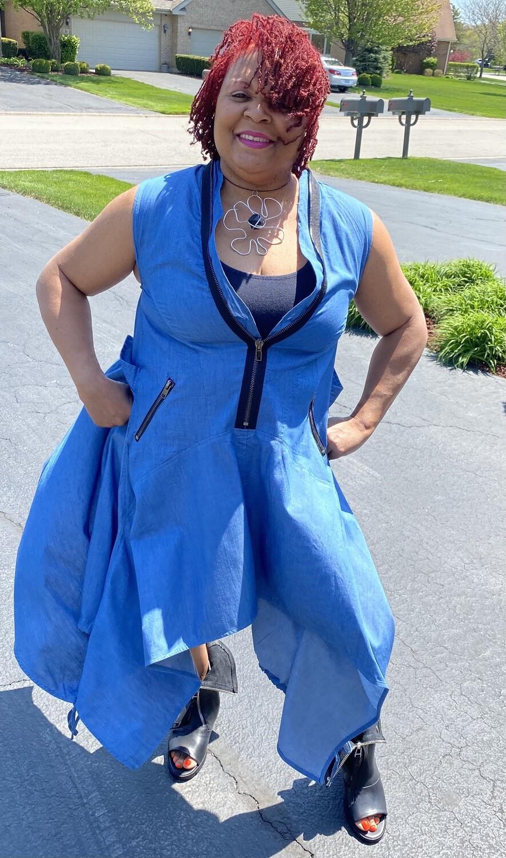 Denim Handkerchief Dress