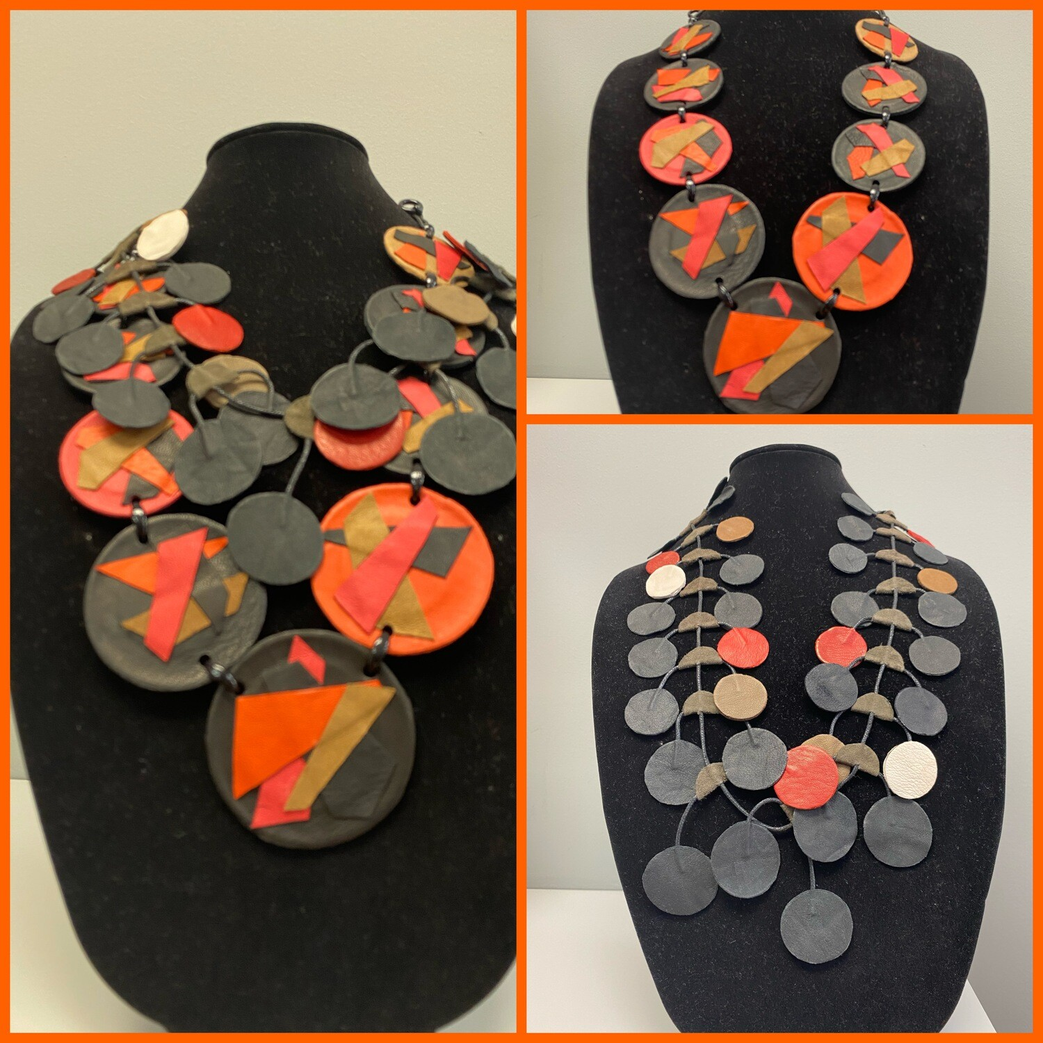 Falling in Leather Necklace