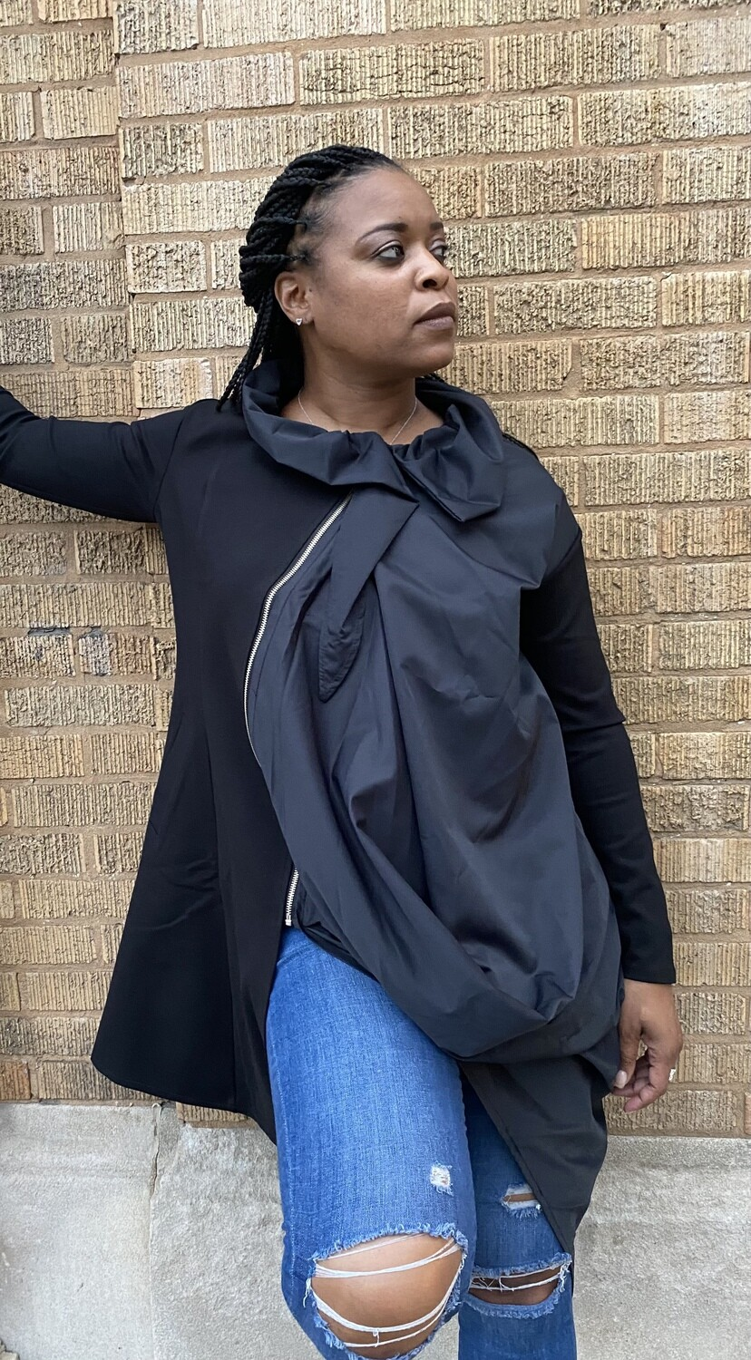 Artistic Black Trench