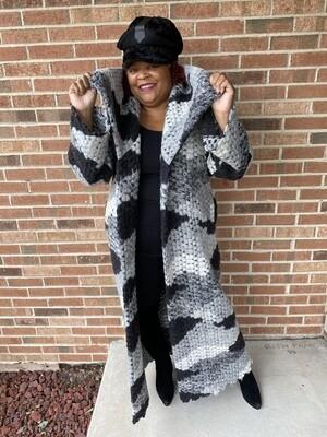 Grey Wool Duster