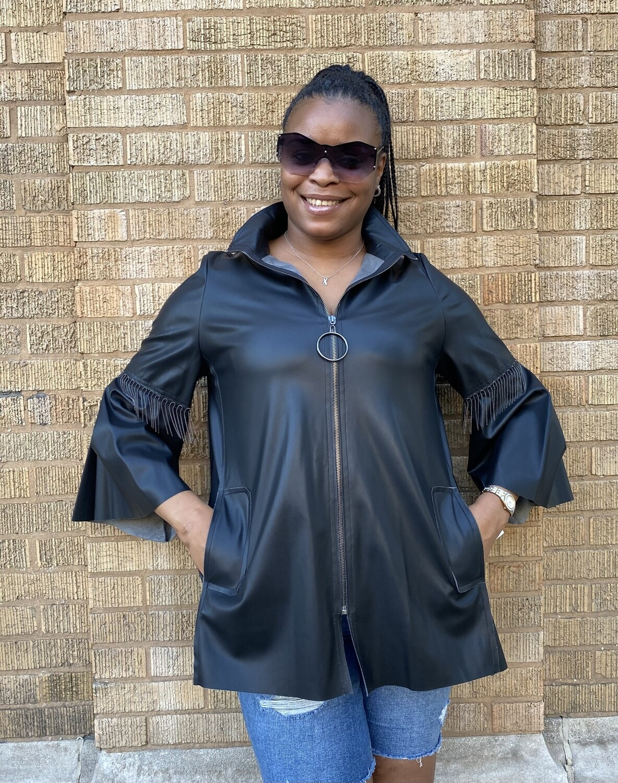 Secret Chain Leather Jacket