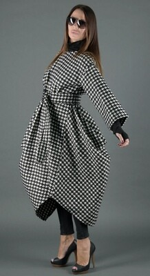 Autumn Plaid Dress/Coat