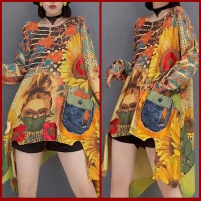 Her Sunflower Sweater