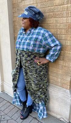 Crochet & Plaid Duster