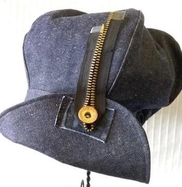 SNT Denim Zipper Hat