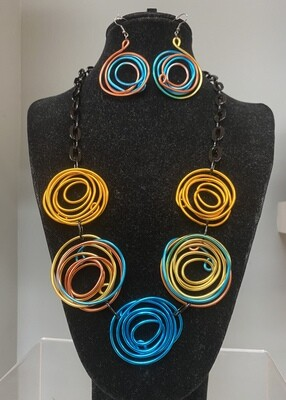 Multicolor Spiral Set
