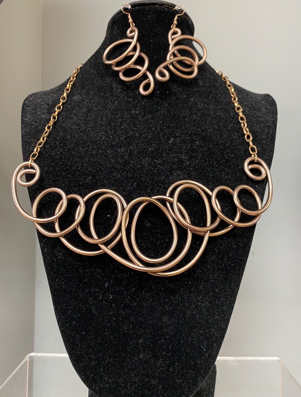 Copper Swirls Set