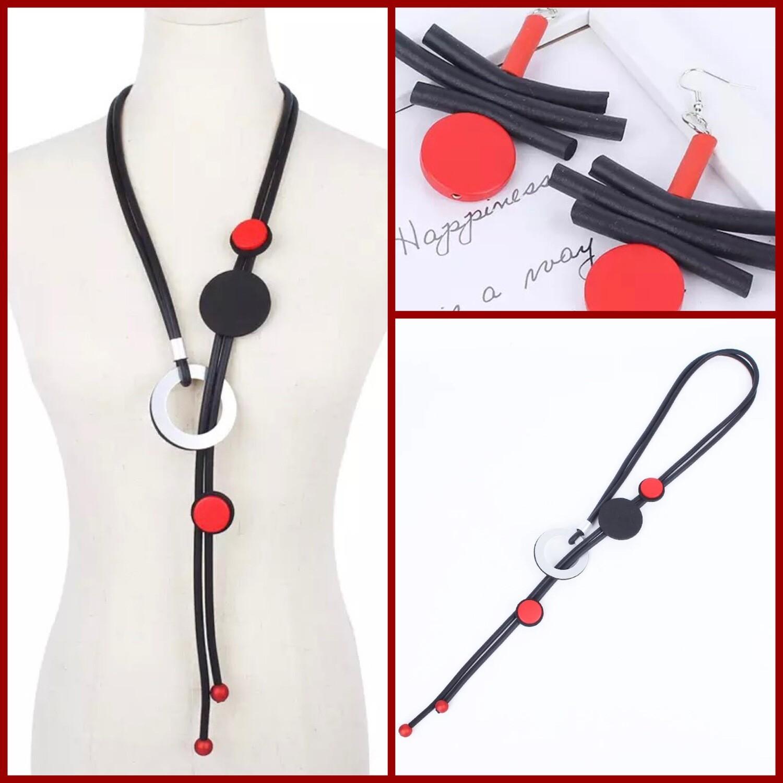 Rubber Adjustable Necklace Set