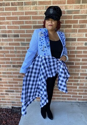 Blue Junk Plaid Jacket