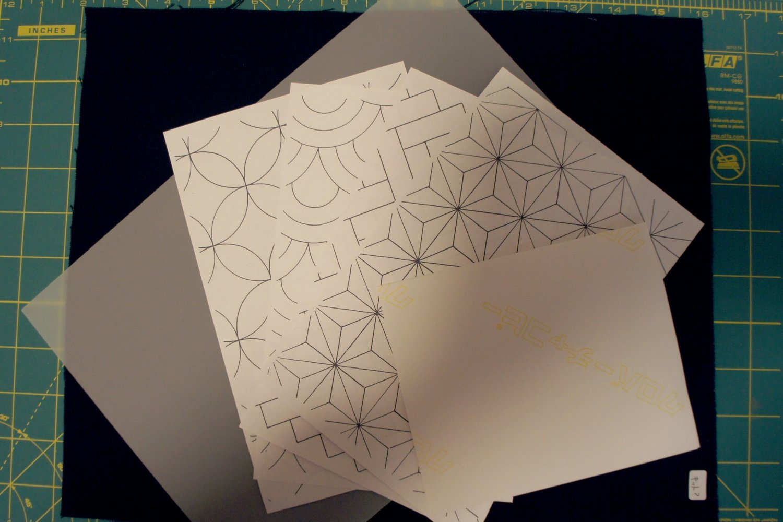 Sashiko Pattern Transfer Practice Kit